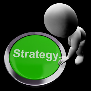 Strategy Button Shows Business Solution Or Management Goal